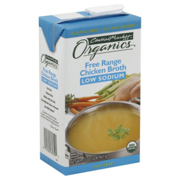Central Market Organic Free Range Low Sodium Chicken Broth