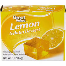 Great Value: Lemon Gelatin Dessert