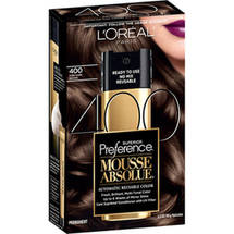 L'Oreal Paris Superior Preference Mousse Absolue Hair Color Kit 500 Pure Medium Brown 400 Pure Dark Brown