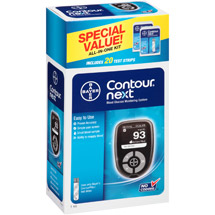 Bayer Contour Next Blood Glucose Monitoring System All-in-One Kit