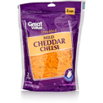 Great Value Mild Shredded Cheddar Cheese