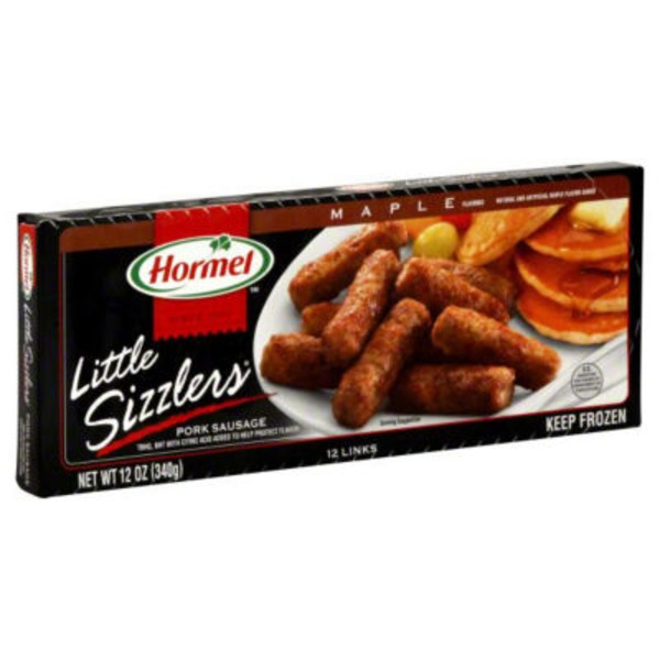 Hormel Little Sizzlers Maple Flavored Links Pork Sausage