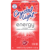 Crystal Light On The Go Energy Wild Strawberry Energy Drink Mix