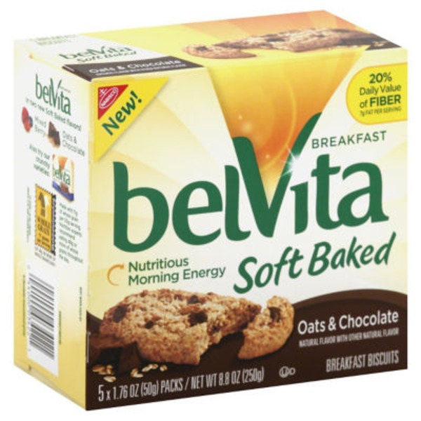 Nabisco Belvita Soft Baked Oats & Chocolate Breakfast Biscuits