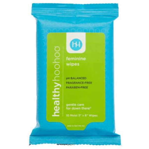 Healthy Hoohoo Feminine Wipes Travel Pack
