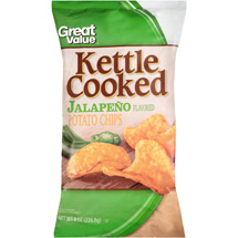 Great Value Kettle Cooked Jalapeno Flavored Potato Chips