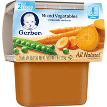 Gerber 2nd Foods Mixed Vegetables Baby Food