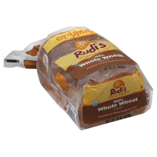 Rudi's Organic Bakery Organic Bakery Bread 100% Whole Wheat