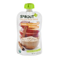 Sprouts Organic Stage 2 Apple, Cinnamon & Oatmeal Baby Food
