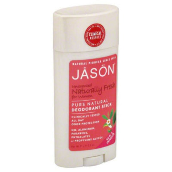 Jason Naturally Fresh for Women Pure Natural Deodorant Stick Unscented