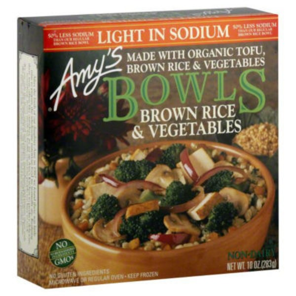 Amy's Bowls Light Sodium Brown Rice and Vegetables