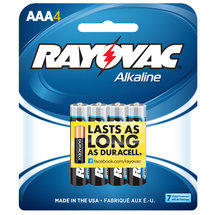 Rayovac Alkaline Traditional Pack AAA Batteries