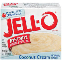Jell-O Coconut Cream Instant Pudding & Pie Filling