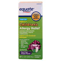 Equate Children's Allergy Relief Grape Flavor Liquid