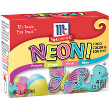 McCormick Neon! Assorted Food Colors And Egg Dye 4Ct/1 Fl oz