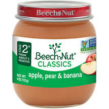 Beech Nut Apples Pears & Bananas Stage 2 Baby Food