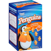 Great Value Penguins Cheddar Baked Snack Crackers