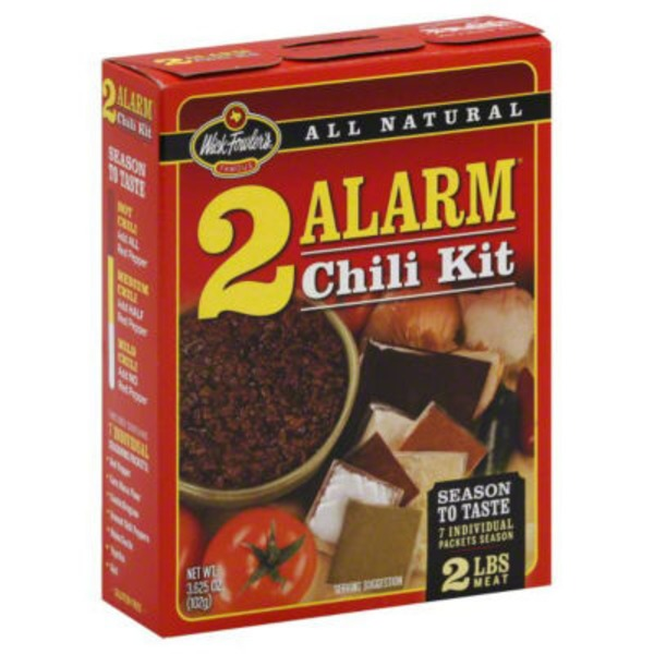 Wick Fowler's 2 Alarm Chili Kit
