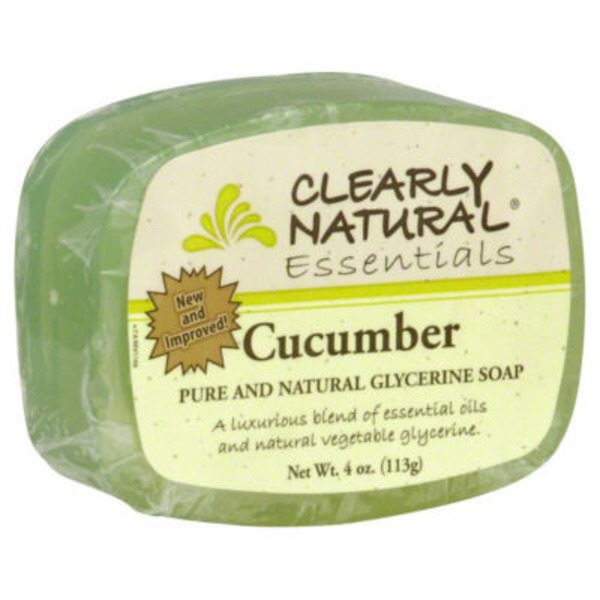 Clearly Natural Glycerine Soap, Pure and Natural, Cucumber