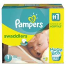 Pampers Swaddlers Diapers Huge Box Size 1