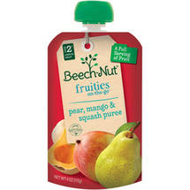 Beech Nut On-The-Go Pear Mango & Squash Puree Fruities