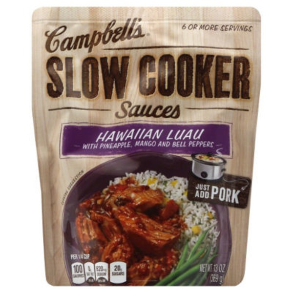 Campbell's Dinner Sauces Hawaiian Luau Slow Cooker Sauces