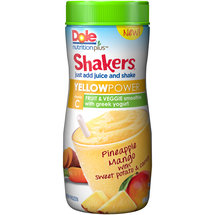 Dole Nutrition Plus Shakers Yellow Power Fruit & Veggie Smoothie