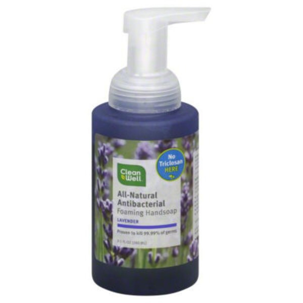 CleanWell Handsoap, Foaming, All-Natural Antibacterial, Lavender