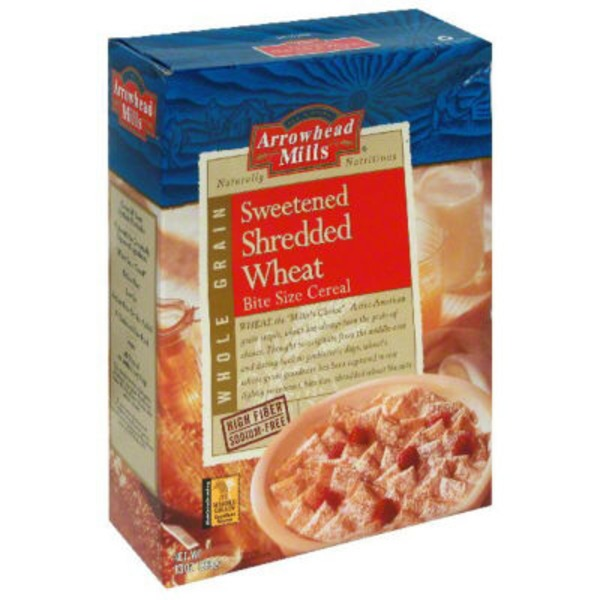 Arrowhead Mills Sweetened Bite Size Shredded Wheat Cereal