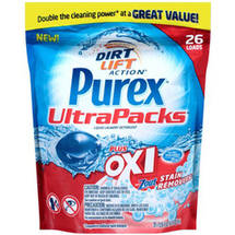 Purex Plus Oxi & Zout Stain Removers Liquid Laundry Detergent UltraPacks