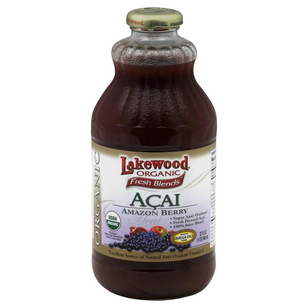 Lakewood Juice, Organic, Acai, Amazon Berry