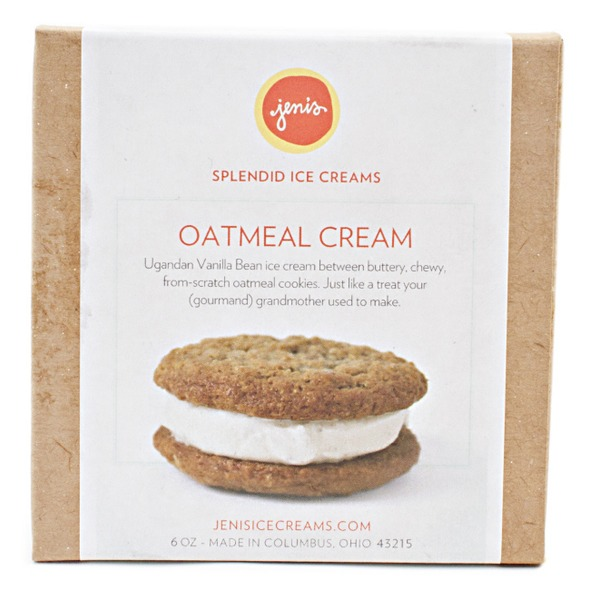Jeni's Splendid Ice Creams Oatmeal Cream Ice Cream Sandwich