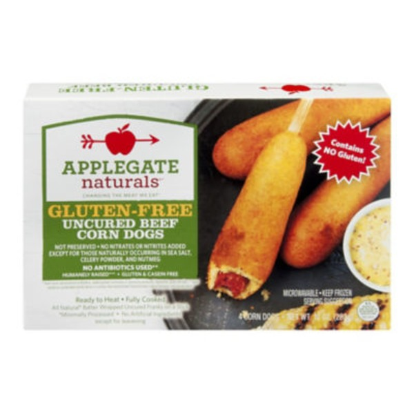 Applegate Gluten Free Uncured Beef Corn Dogs