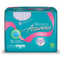 Assurance Women's Maximum Absorbency Underwear X-Large