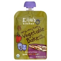 Ella's Kitchen Organic 7 Months Vegetable Bake with Lentils