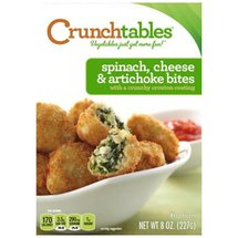 CRUNCHtables Crouton Coated Spinach Cheese & Artichoke Bites