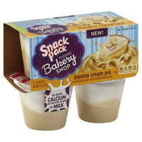 Snack Pack Bakery Shop Banana Cream Pie Pudding