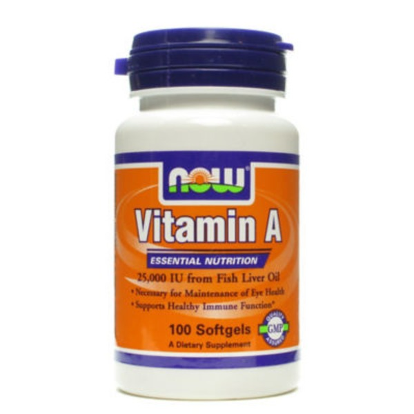 Now Vitamin A 25000 Iu Softgels