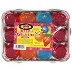 Winky Brand Fun Pak 12 4oz. Units 3 Blueberry 3 Orange & 6 Strawberry Jilly's Gelatin Dessert