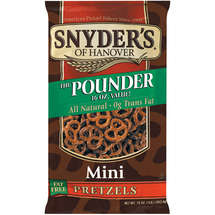 Snyders Of Hanover Mini Fat Free The Pounder Pretzels