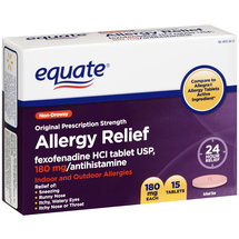 Equate Fexophenadine Allergy Relief 180MG