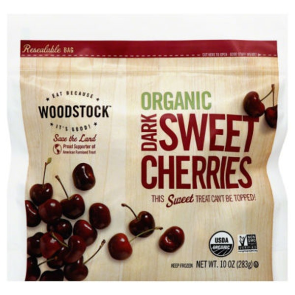 Woodstock Farms Cherries, Organic, Dark Sweet