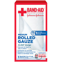 Band-Aid Sterile Rolled Gauze Medium