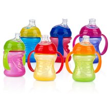 Nuby No Spill Grip N' Sip Cup 10 oz (Colors May Vary)