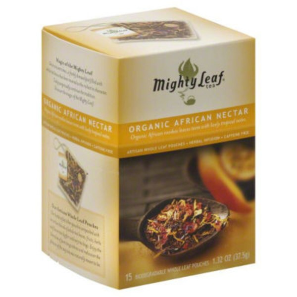Mighty Leaf Tea Biodegradable Whole Leaf Pouches Organic African Nectar - 15 CT