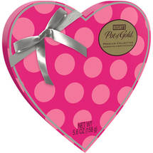 Hershey's Pot of Gold Premium Assorted Chocolates Valentine's Heart-Shaped Box Pink