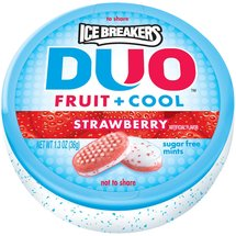 Ice Breakers Duo Fruit + Cool Strawberry Sugar Free Mints
