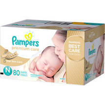 Pampers Premium Care Disposable Diapers Super Pack Premie Size