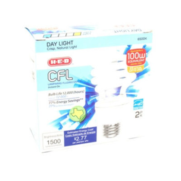 H-E-B Micro T2e 23 Watt Cfl Light Bulb