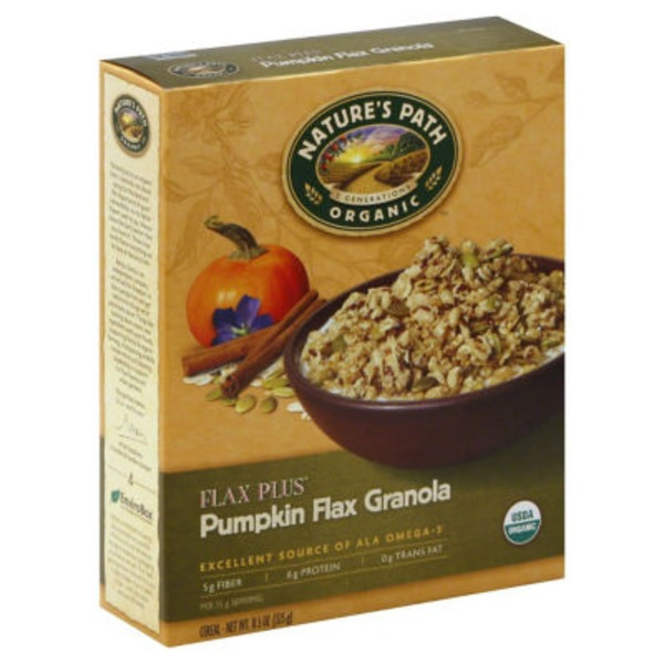 Nature's Path Organic Flax Plus Pumpkin Flax Granola Cereal